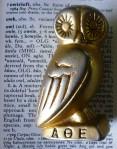 Athenia Owl Statuette