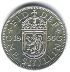 English shilling coin
